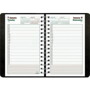 2014 BluelineDuraGlobe Daily Planner, Sugarcane Based Paper, Twin-Wire Binding, Soft Black Cover, 8 x 5