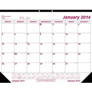 2014 Brownline Monthly Desk Pad, Virgin Paper, 22 x 17