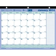 2014 Brownline Monthly Desk Pad, 11 x 8-1/2