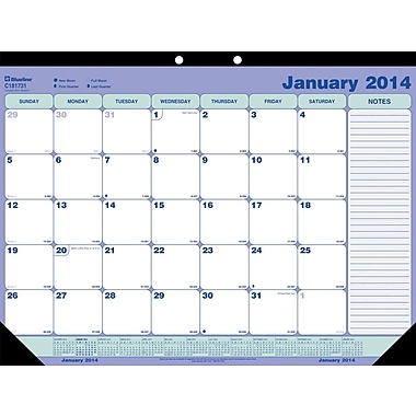 2014 Blueline Monthly Desk Pad, 21-1/4in. x 16in.