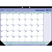 2014 Blueline Monthly Desk Pad, 21-1/4 x 16