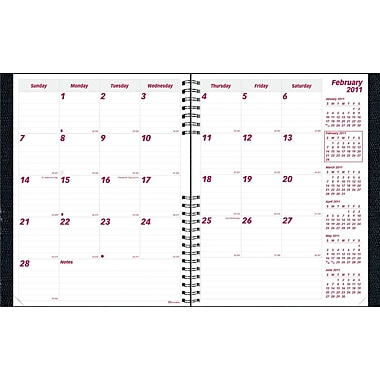 2014 Brownline CoilPro Monthly Planner, 14 months (Dec-Jan), Hard Black Cover, 11in. x 8-1/2in.