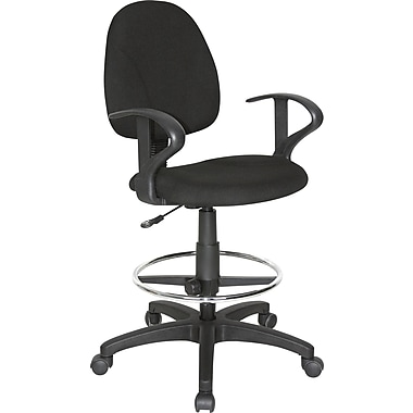 Staples® Drafting Stool with Arms, Black