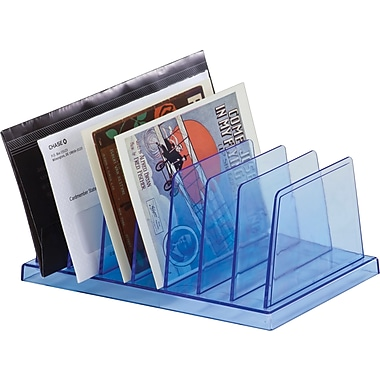 Officemate Blue Glacier Standard Sorter, 7 compartments