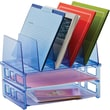 Officemate Blue Glacier Large Standard Sorter with 2 Letter Trays