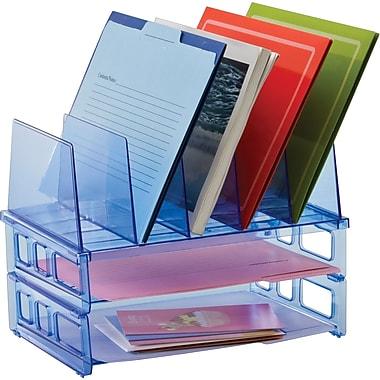 Officemate Blue Glacier Large Standard Sorter with 2 Letter Trays