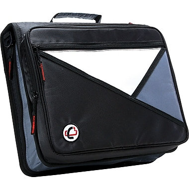 Case•it LT-007 2in. Black Zipper Binder with Laptop/Tablet Pocket