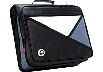 Case•it LT-007 2' Black Zipper Binder with Laptop/Tablet Pocket