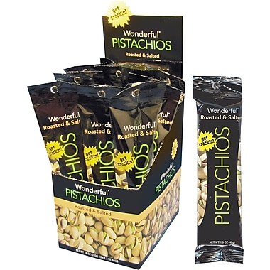 Wonderful® Roasted & Salted Pistachios, 1.5 oz., 12 Packs/Box