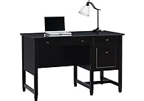 Sauder® Edgewater Single Pedestal Desk, Estate Black