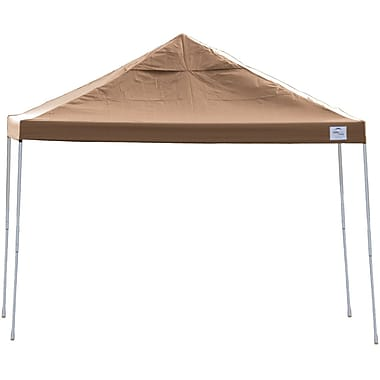 ShelterLogic 12' x 12' Straight Leg Pop-up Canopy with Black Roller Bag, Desert Bronze Cover