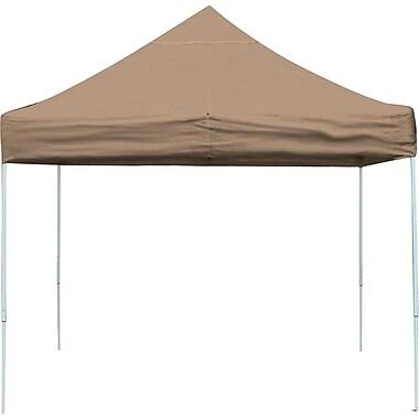 ShelterLogic 10' x 10' Straight Leg Pop-up Canopy with Black Roller Bag, Desert Bronze Cover