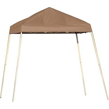 ShelterLogic 8' x 8' Slant Leg Pop-up Canopy with Carry Bag, Desert Bronze Cover