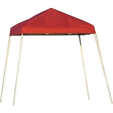 ShelterLogic 8' x 8' Slant Leg Pop-up Canopy with Carry Bag, Red Cover