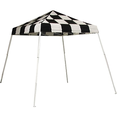 ShelterLogic 8' x 8' Slant Leg Pop-up Canopy with Carry Bag, Checkered Flag Cover