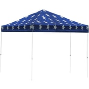 ShelterLogic 10' x 10' Straight Leg Pop-up Canopy with Black Roller Bag, Super Star Cover