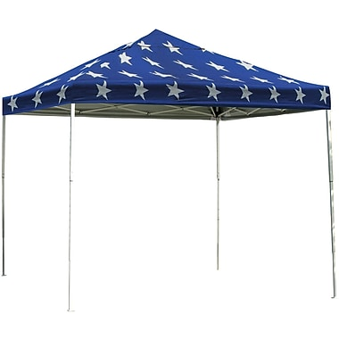 ShelterLogic 12' x 12' Straight Leg Pop-up Canopy with Black Roller Bag, Super Star Cover