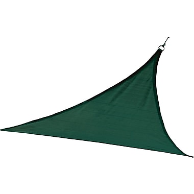 ShelterLogic 12' Triangle Shade Sail - 230 gsm, Evergreen