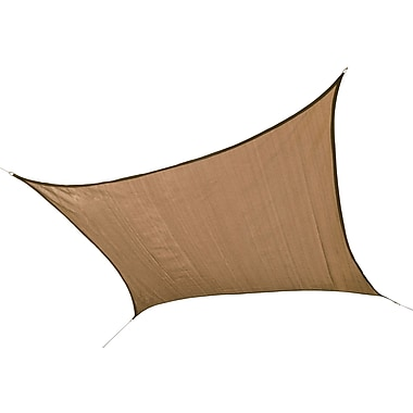 ShelterLogic 16' Square Shade Sail - 160 gsm, Sand