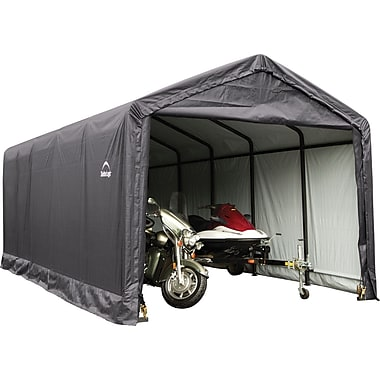 ShelterLogic 12' x 30' x 11' ShelterTube™ Storage Shelter, Gray Cover