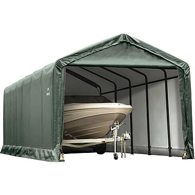 ShelterLogic 12' x 25' x 11' ShelterTube™ Storage Shelter, Green Cover