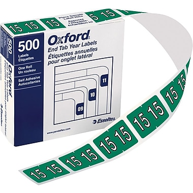 Oxford® Datafile Compatible Year Labels, 2015