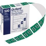 Oxford® - Étiquettes d'années compatibles Datafile