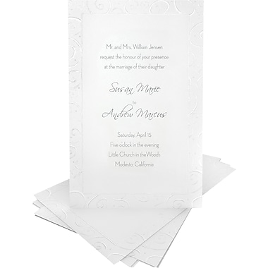 Gartner Studios Wedding Invitation Kit 5 1 2 X 8 1 2 50 Pack