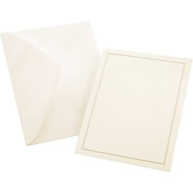 Gartner Studios® - Cartes et enveloppes multi-usages, 4 1/4 x 5 1/2 po, ivoire perlé, paq./50