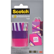 "Scotch® Expressions Tape, Preppy, Purple, Pink , Removeable, 3/4"" x 300"", 3/Pack"