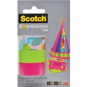 Scotch® Expressions Tape, Watercolor, Pink, Green, Removable, 3/4 x 300, 3/Pack