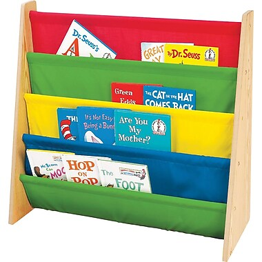 Tot Tutors Book Rack, Primary Colours