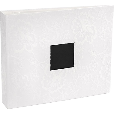 American Crafts Patterned D-Ring 12in. x 12in. Album, White Lace