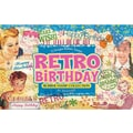 TJ Designs Rubber Stamp Set, Retro Birthday