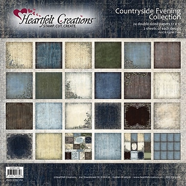 Heartfelt Creations Double-Sided Paper Collection, 12in. x 12in., Countryside Evening