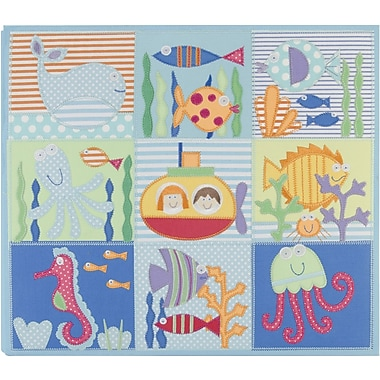 Amanda Blu Embroidered Postbound Album, 12in. x 12in., Sea Life