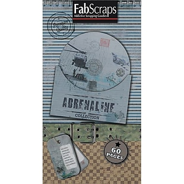 Fabscraps Adrenaline Journal Tags, Shapes & Pages, 8in. x 4in. Pad