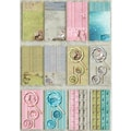 Fabscraps Little Peeps Journal Tag, Shapes & Pages, 8in. x 4in. Pad