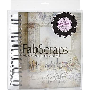Fabscraps Romantic Travel Scraps Ring Bound Book, 7in. x 10in.
