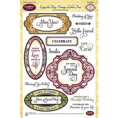 JustRite Stampers 6in. x 8in. Clear Stamp Set, Enjoy The Day