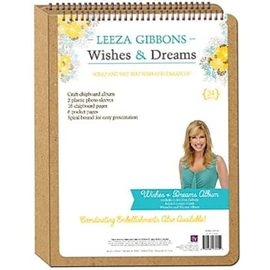 Prima Marketing Wishes & Dreams Spiral Bound Waterfall Album, 12.5in. x 9in.