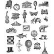 Stampers Anonymous Tim Holtz Large Cling Rubber Stamp Set, Tiny Things