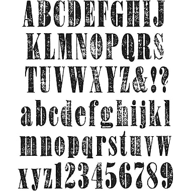 Stampers Anonymous Tim Holtz Large Cling Rubber Stamp Set, Worn Text
