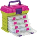 Creative Options Grab'n Go 4-By Rack System, 11in. x 7.25in. x 10in., Green/Magenta