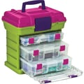 Creative Options Grab'n Go 3-By Rack System, 13in. x 10in. x 14in., Green/Magenta