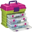 Creative Options Grab'n Go 3-By Rack System, 16.5in. x 11.75in. x 15in., Green/Magenta