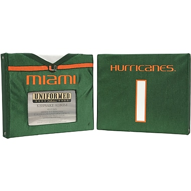 Uniformed Scrapbooks Collegiate Album, 8in. x 8in., University Of Miami