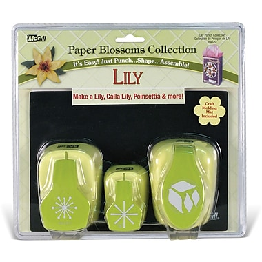Mc Gill Paper Blossoms Punch Set, Lily