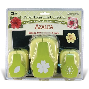 Mc Gill Paper Blossoms Punch Set, Azalea
