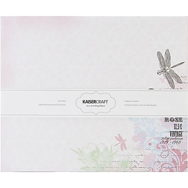 Kaisercraft Lavender Haze D-Ring Album, 12in. x 12in.